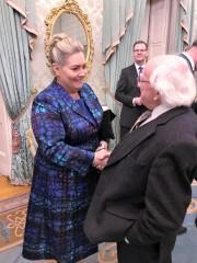 Jacqueline O'Donovan with Michael D Higgins