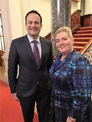 Leo Varadkar with Jacqueline O'Donovan