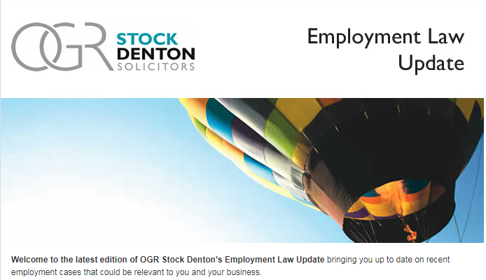 OGR StockDenton - Employment Law Update