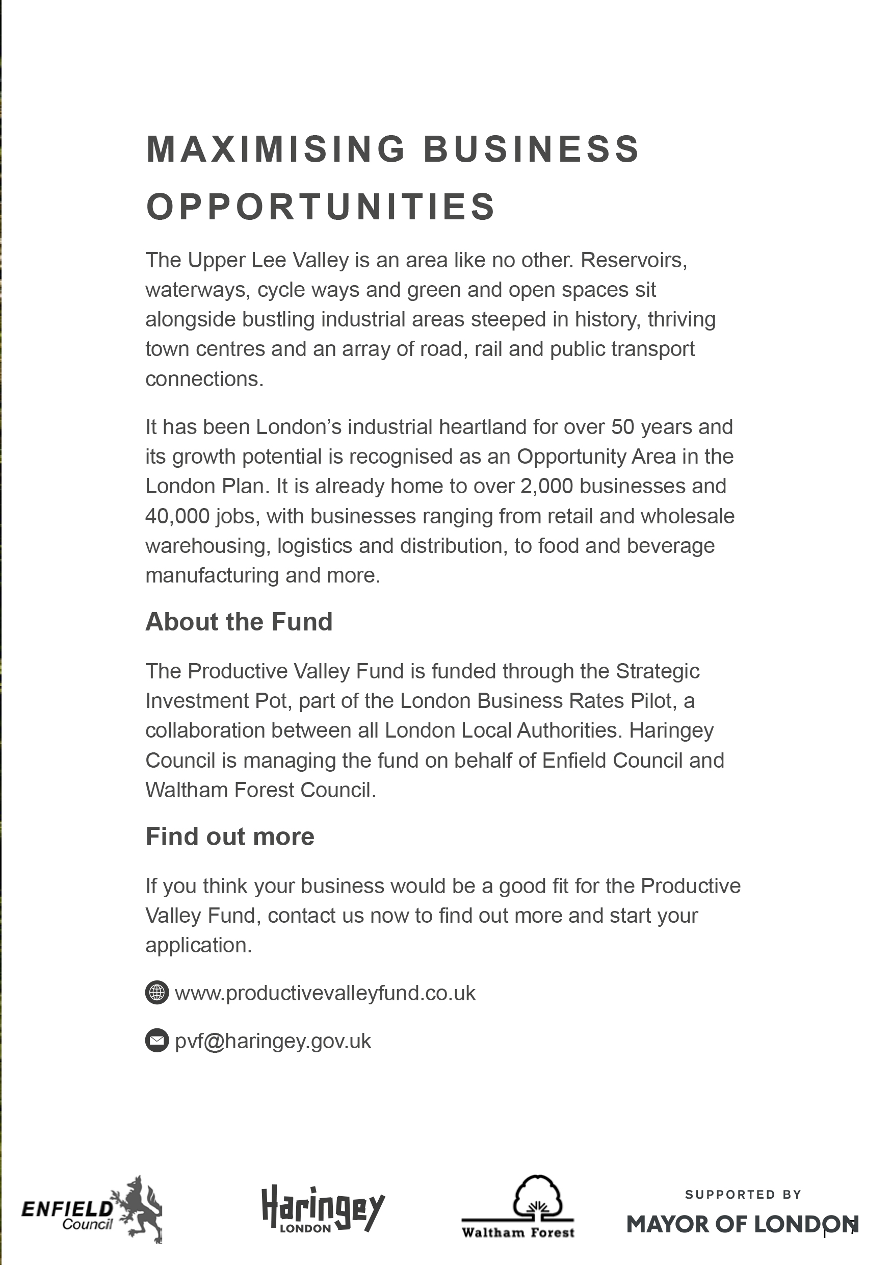 Productive Valley Fund brochure-Last page